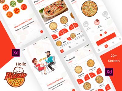 Pizza Holic sketchapp graphics design illustrator design mobile app design ux design ui design photoshop design xd design fastfood food app hotel app pizza holic pizza