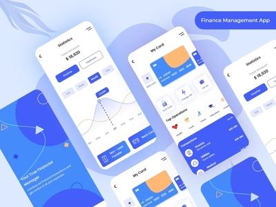 Finance Management App illustraion sketch app xd design photoshop design ux design ui design graphics design mobile app design money transfer bank app finance app app