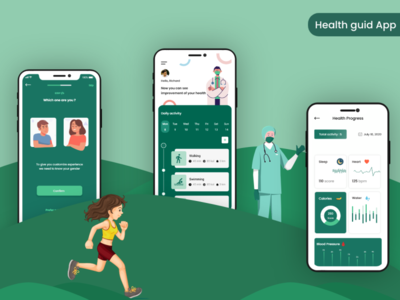 Health guid App photoshop design illustrator design xd design graphicsdesign mobile app design ux design ui design clinic app hospital doctor app health guid app health app