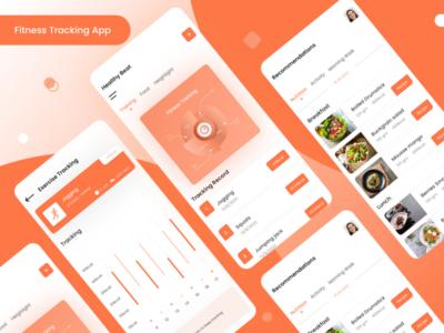 Fitness Tracking App mobile app graphics design sketchapp illustrator design photoshop design xd design mobile app design ux design ui design fitness tracker health care health app fitness app app