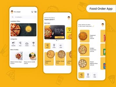 Food Zone App resturant graphics design sketchapp illustrator design mobile app design ui design ux design photoshop design xd design hotel app food app foodie app