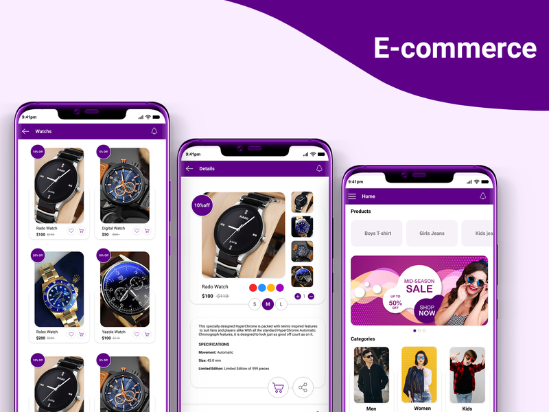 E Commerce adobe xd ui ecommerce shop ecommerce design shopping app ecommerce
