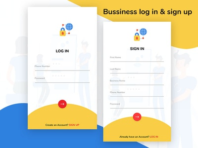 Business Login & sign up