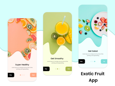 Exotic fruit app fruit app fruits logo mobile app app design sketchapp illustration graphics design illustrator design ui design mobile app design ux design photoshop design xd design