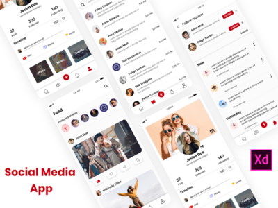 Social app graphics design sketchapp illustrator design mobile app design ui design ux design photoshop design xd design chat profile media social media social app app