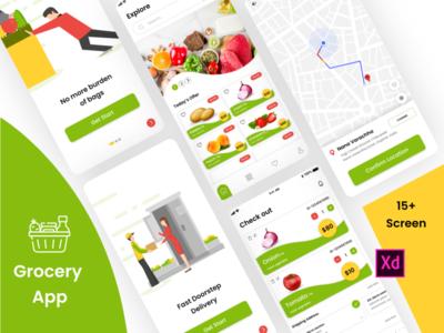 Grocery App graphics design sketchapp illustrator design mobile app design ui design ux design photoshop design xd design e-commerce app shopping app grocery app grocery