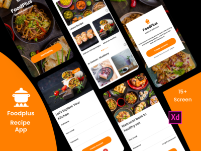 FoosPlus Recipe graphics design sketchapp illustrator design mobile app design ui design ux design photoshop design xd design recipe app food recipe recipe food app