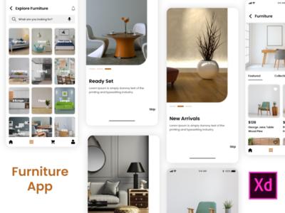 Furniture app graphic design sketchapp illustrator design mobile app design ui design ux design photoshop design xd design e-commerce app online shop online store furniture store furniture app app