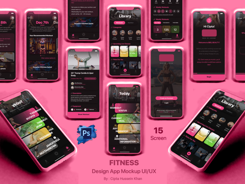 Fitness App live gym fitness logo ui illustration homage app app design feed app ux login category app onboarding detail app home screen design app design uiux design mobile design