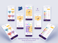 Spiritual Design For Dating App.