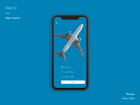 Daily UI #068 Flight Search