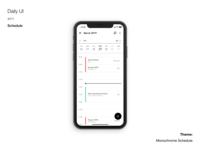 Daily UI #71 Schedule