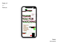 Daily UI #077 Thank you