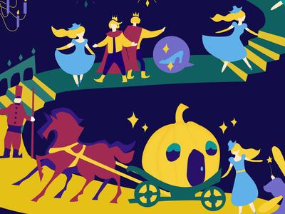 Illustrations/info-graphic【Cinderella】
