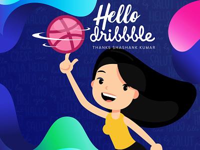 Hello Dribbble! hello dribble debut shot