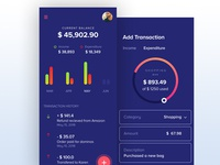 UI Design For Expense Management App