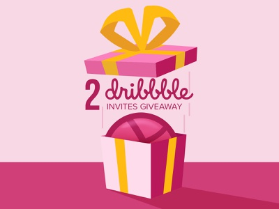 2 Dribbble Invites Giveaway! giveaway dribbbleinvite dribbble illustration wireframe interaction design prototype visualdesign uxdesign ui uidesign