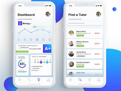 UI Design For Teacher Parent and Student Interaction gradient minimal app design clean app design minimal clean illustration wireframe interaction design prototype visualdesign design ux uxdesign ui uidesign