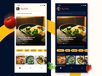 Cookbook App Concept food recipie app cookbook app food ui food app illustration dribbble clean app design clean visualdesign design ux ui interaction design uxdesign uidesign