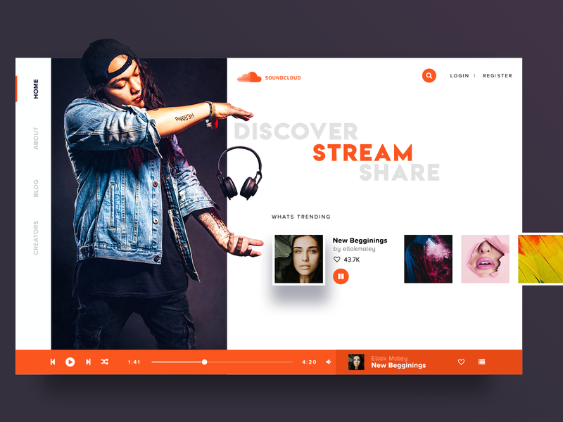 Soundcloud Landing Page Redesign