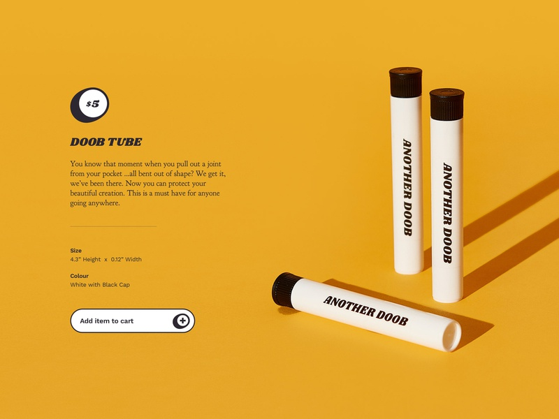 Another Room — Doob Tube cannabis product typography photography ui