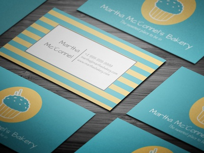Minimal Bakery Business Card branding graphic design business card