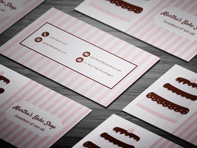 Elegant Pink Bakery Business Card logo card business cards business card branding bizness business paper print