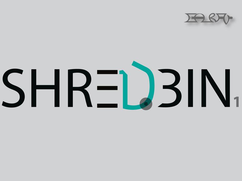 Shred-Bin (logo design) identity bin pictograms brand branding typography pictogram design illustration graphics visual graphic logo design logo
