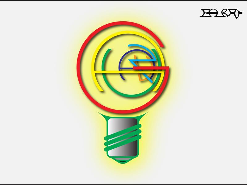 Typographic Illustration (Bulb) bulb branding typography logo pictogram design visual communication graphic design illustration graphics graphic