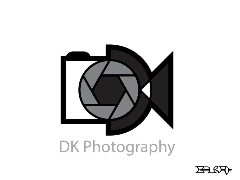 DK Photography Logo dslr camera photography photography logo branding typography visual design logo graphic design illustration graphics graphic