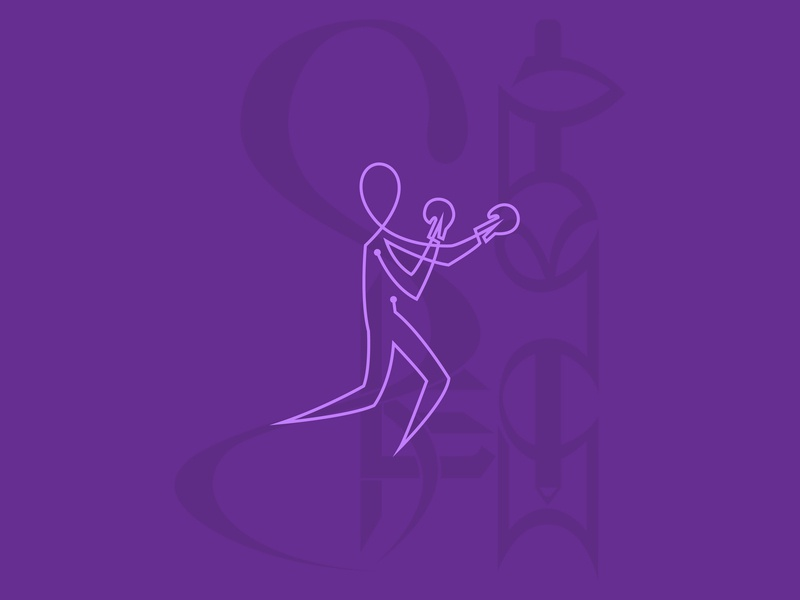 Boxing Pictogram in Single line fitness fit purple logo line art line sports boxing sport graphic design character pictogram illustration graphics graphic