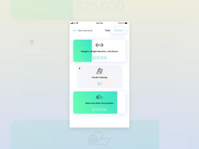 Raising Value minimal swipe screen ui ux design ios android app