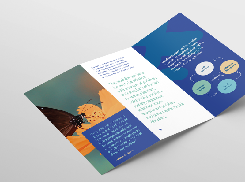 Umid Brochure - Marketing marketing collateral collateral marketing identity minimal brochure layout logo graphics vector branding brochure design butterfly photography graphic design design brochure
