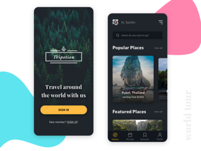 Travel UI design Concept