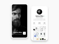 Designer Profile Concept UI Design