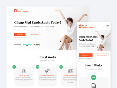 Cheap Med Cards Landing Page Redesign
