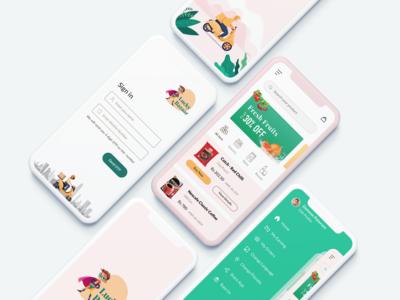 Supermarket UI Design | Lucky Bazaar