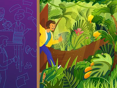 Start Illustration colours character office jungle illustration vector adobe illustrator