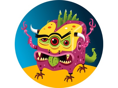 ShakyPlanet Globe: Monsters app ipad and iphone for illustrations