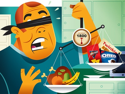 10 things the weight-loss industry won't tell you vector illustration the wall street journal