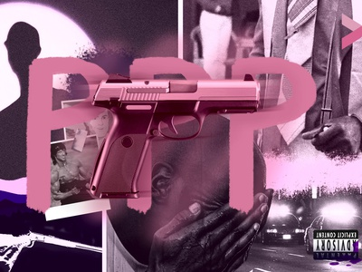 PPP_Alpha Wann (Concept cover) pistolero gun pink french rap alpha wann visual design art visual artwork rap branding music hiphop illustration design
