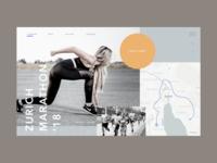 Zurich marathon page redesign