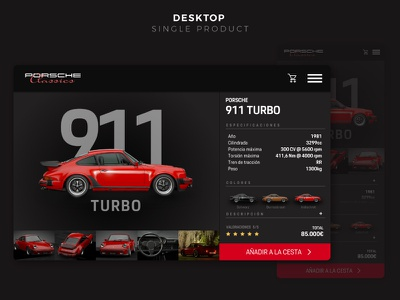 Porsche Classic - Single Product UI conceptual user experience user interface web design car single product uidesign ui