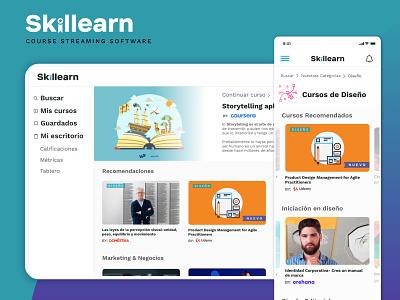 Skillearn - Course Streaming UI design system components website design interface user inteface ux ui  ux ui design ui