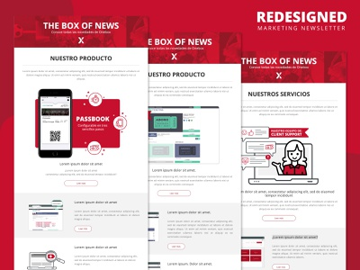 Newsletter redesigned user experience user interface website design web design newsletter design newsletter