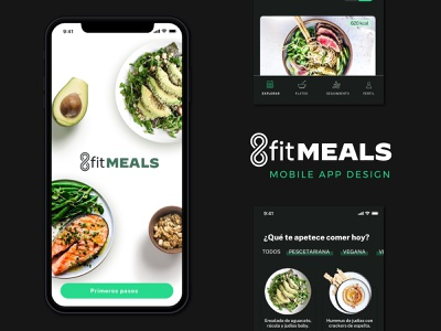 8fitMEAL - Heathy food Delivery APP dark mode food delivery app interaction user interface design user interface uidesign ui ux ui app design app