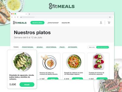 8fitMEALS - Food Delivery Website landing design landing page design system component components website design user interface ui  ux ui design ui