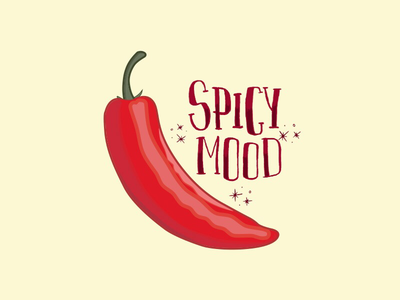 Spicy dreams spicy chili cute illustrator pastel pastels lettering fifties flat illustration
