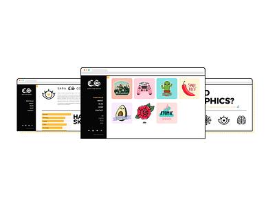 Online Portfolio browser yellow portfolio web interactive design ui web design