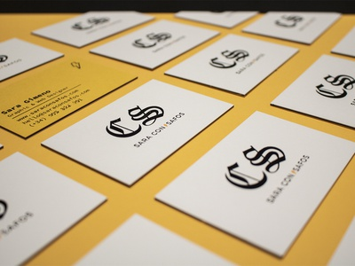 Business Cards clean bold minimal branding personal branding logo typography yellow flat letterpress business cards minimal